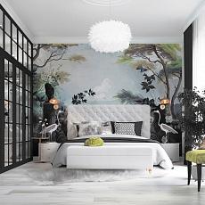 Cпальная комната Spring greenery